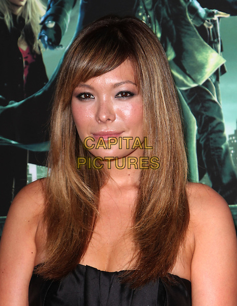 "LINDSEY PRICE .Creative Visions Foundation Benefit Screening Of ""The Sorcerer's Apprentice"" held at Walt Disney Studio, Burbank, CA, USA, .12th July 2010..portrait headshot strapless black  .CAP/ADM/KB.©Kevan Brooks/AdMedia/Capital Pictures."