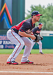19 March 2015: Atlanta Braves infielder Chris Johnson in Spring Training action against the Miami Marlins at Champion Stadium in the ESPN Wide World of Sports Complex in Kissimmee, Florida. The Braves defeated the Marlins 6-3 in Grapefruit League play. Mandatory Credit: Ed Wolfstein Photo *** RAW (NEF) Image File Available ***