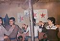 Iraq 1980 .Hatige Yachar dancing with her peshmergas in Shene  .Irak 1980 .Detente, Hatige Yachar dansant avec ses peshmergas a Shene