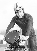 23rd February 1957; John Surtees practising at Brands Hatch on his Norton motorbike. He is trying to get fit after his recent crash and taking things slowly but he hopes to be riding at the Easter races