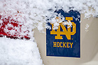 January 23, 2018; ND Hockey bumper sticker (Photo by Matt Cashore/University of Notre Dame)