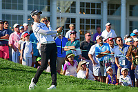 Sung Hyun Park (KOR) watches her tee shot on 16 during Sunday's final round of the 72nd U.S. Women's Open Championship, at Trump National Golf Club, Bedminster, New Jersey. 7/16/2017.<br /> Picture: Golffile | Ken Murray<br /> <br /> <br /> All photo usage must carry mandatory copyright credit (&copy; Golffile | Ken Murray)