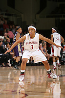 10 February 2007: Stanford Cardinal Markisha Coleman during Stanford's 80-54 win against the Washington Huskies at Maples Pavilion in Stanford, CA.