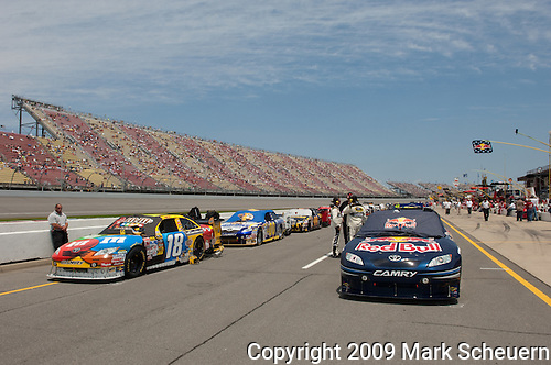 June 14 2009: Cars lined up prior to the start of  the LifeLock 400 at Michigan International Speedway in Brooklyn, MIchigan.