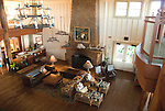 Hawaii: Molokai, The Lodge at Molokai Ranch, a major lodging with a handsome facade, swimming pool, Great Room lobby, and ranch-decor guest roooms..Photo himolo190-72003..Photo copyright Lee Foster, www.fostertravel.com, lee@fostertravel.com, 510-549-2202