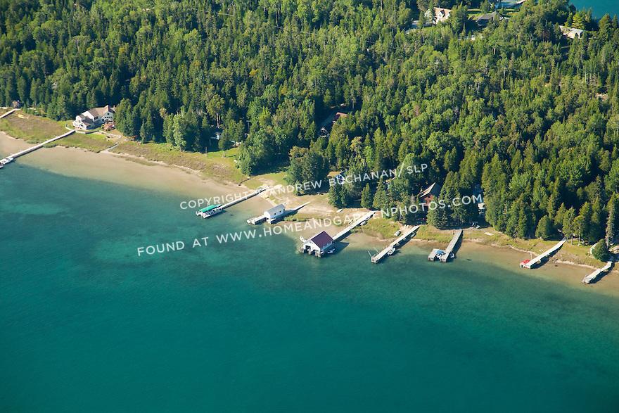 Hill Island west side shoreline, Les Cheneaux area of Lake Huron near Cedarville, MI
