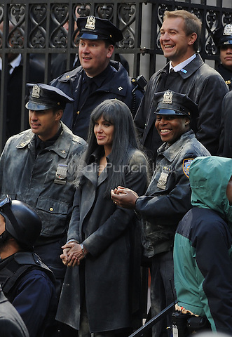 Angelina Jolie on the set of 'Salt' in New York City. March 21, 2009 Credit: Dennis Van Tine/MediaPunch
