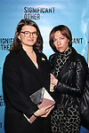 Leslye Headland and Rebecca Henderson attends the Broadway Opening Night performance for 'Significant Other' at the Booth Theatre on March 2, 2017 in New York City.