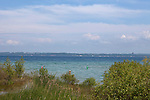 View of Lake Michigan on beautiful summer day from Old Mission Peninsula, Lake Michigan, Traverse City area, Michigan, USA