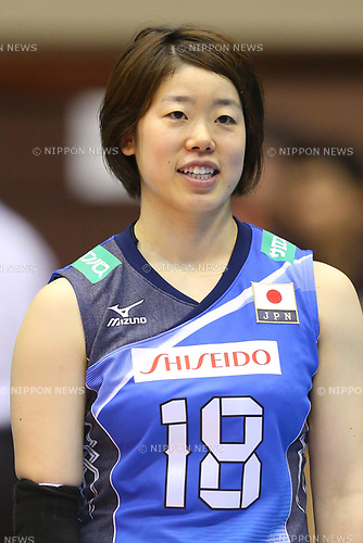 Mami Uchiseto (JPN), <br /> JULY 16, 2017 - Volleyball : FIVB Volleyball World Grand Prix SENDAI 2017 match between <br /> Brazil 2-3 Japan  <br /> at Kamei Arena Sendai, in Sendai, Japan. <br /> (Photo by Sho Tamura/AFLO)