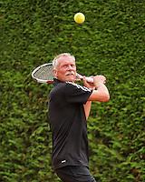 Netherlands, Amstelveen, August 21, 2015, Tennis,  National Veteran Championships, NVK, TV de Kegel,  Henk Korteling<br /> Photo: Tennisimages/Henk Koster