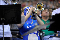 A Bulldog band member plays her trumpet. Pittsburgh defeated UNC-Asheville 74-51 during the NCAA tournament at the Verizon Center in Washington, D.C. on Thursday, March 17, 2011. Alan P. Santos/DC Sports Box