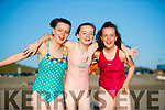 Ciara, Sadie and Rachel Byrne, Tralee, having fun in the sun at Banna Beach on Monday evening last