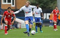 Bury's Alex Whitmore in action with the all<br /> <br /> Photographer Juel Miah/CameraSport<br /> <br /> The EFL Sky Bet League One - Bury v Milton Keynes Dons - Saturday 30th September 2017 - Gigg Lane - Bury<br /> <br /> World Copyright &copy; 2017 CameraSport. All rights reserved. 43 Linden Ave. Countesthorpe. Leicester. England. LE8 5PG - Tel: +44 (0) 116 277 4147 - admin@camerasport.com - www.camerasport.com