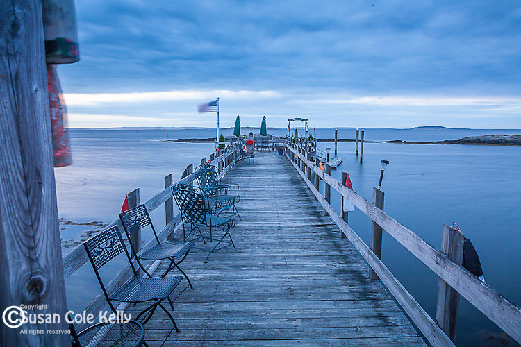 A fishing pier on Orr's Island in Harpswell, Maine, USA