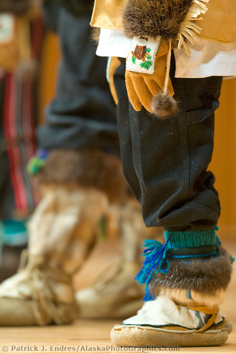 Mukluk boots, 2006 Festival of Native Arts, Native dance and art celebration in Fairbanks, Alaska