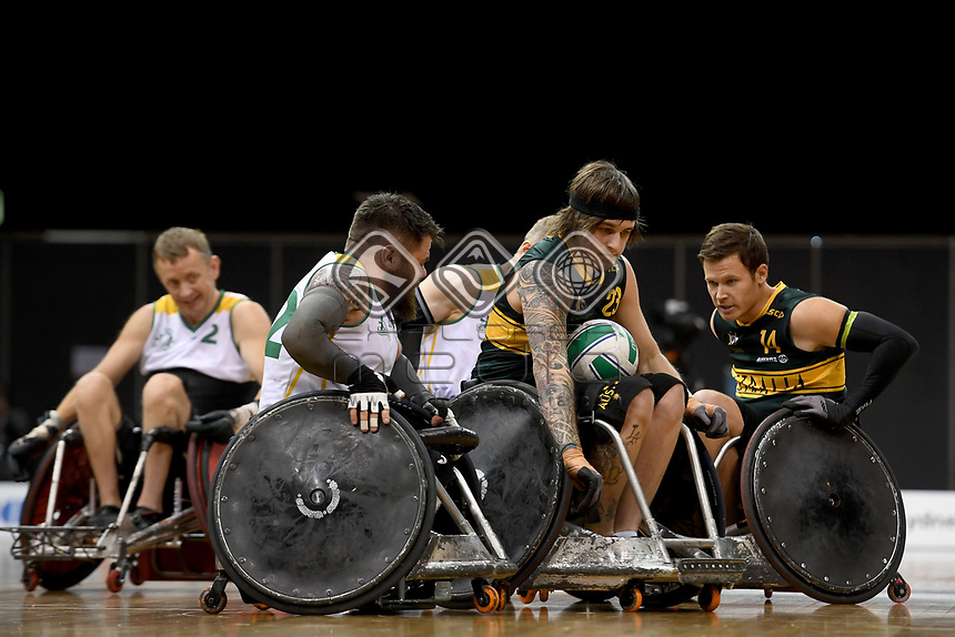 Jayden Warn (AUS)  vs Ireland<br /> Australian Wheelchair Rugby Team<br /> 2018 IWRF WheelChair Rugby <br /> World Championship / Day 4<br /> Sydney  NSW Australia<br /> Wednesday 8th August 2018<br /> © Sport the library / Jeff Crow / APC
