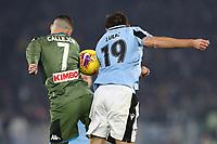 Jose Callejon of Napoli and Senad Lulic of Lazio<br /> Roma 11-01-2020 Stadio Olimpico <br /> Football Serie A 2019/2020 <br /> SS Lazio - Napoli SSC<br /> Photo Cesare Purini / Insidefoto