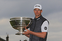 Victor Perez (FRA) winner of the Alfred Dunhill Links Championship 2019 at St. Andrews Golf CLub, Fife, Scotland. 29/09/2019.<br /> Picture Thos Caffrey / Golffile.ie<br /> <br /> All photo usage must carry mandatory copyright credit (© Golffile | Thos Caffrey)