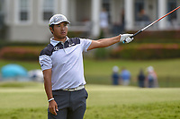 Hideki Matsuyama (JPN) looks over his tee shot on 18 during round 2 of the Arnold Palmer Invitational at Bay Hill Golf Club, Bay Hill, Florida. 3/8/2019.<br /> Picture: Golffile | Ken Murray<br /> <br /> <br /> All photo usage must carry mandatory copyright credit (&copy; Golffile | Ken Murray)