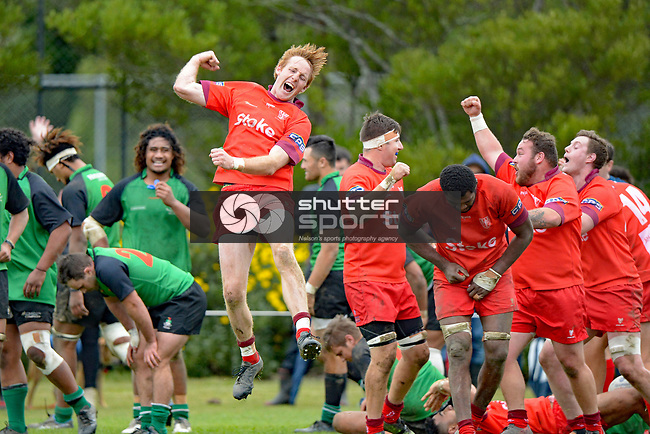NELSON, NEW ZEALAND June 4: Nelson Bays Club Rugby Final: Marist v Stoke, Tahunanui, Nelson, New Zealand, June 4, 2018 (Photos by: Barry Whitnall/Shuttersport Ltd