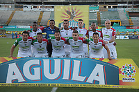 NEIVA - COLOMBIA, 05-07-2015: Jugadores de Once Caldas posan para una foto previo al partido entre Atlético Huila y Once Caldas por la fecha 5 de la Liga Águila II 2018 jugado en el estadio Guillermo Plazas Alcid de la ciudad de Neiva. / Players of Once Caldas pose to a photo prior the match between Atletico Huila and Once Caldas for the date 5 of the Aguila League II 2018 played at Guillermo Plazas Alcid in Neiva city. VizzorImage / Sergio Reyes / Cont