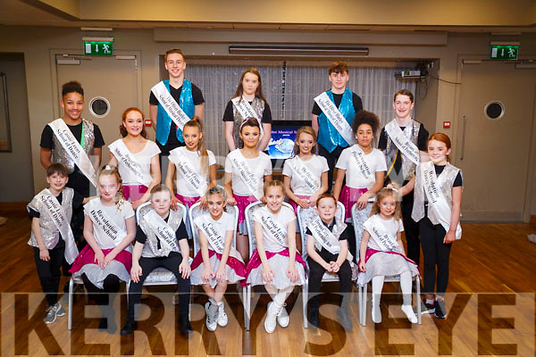 The Young Dancers who took part in the Tralee Musical Society Strictly Young Dancing Competition on Saturday night in Ballyroe Heights Hotel,Tralee. Front l-r: Eliza Jane Browne, Conor Morrissey,Timmy kerins,Laila Collins,Nicole Arefjeva,Cathal Carr,Sadie Jaye KMazurek and Catelyn O'Mahony. Centre,Michael Everett,laura Daly,jagoda Waskiewicz,kattie Anne Harris,Roisín Moriarty,Ellie Mulumbe and Barry Sugrue.Back l-r: Darragh Hurley,Georgia Browne and Colm Atkinson.