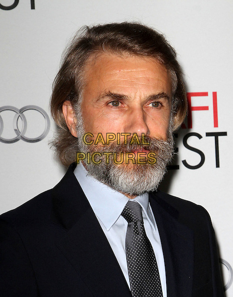 "Christoph Waltz.AFI Fest 2011  Premiere Of ""Carnage"" Held At Grauman's Chinese Theatre, Hollywood, California, USA..November 5th, 2011.headshot portrait black beard facial hair blue shirt.CAP/ADM/KB.©Kevan Brooks/AdMedia/Capital Pictures."