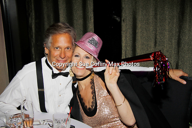 As The World Turns' Scott Bryce and wife and singer Jodi Stevens (Jodi sang) as they celebrate  New Year's Eve 2016 at The Copacabana, New York City, New York. (Photo by Sue Coflin/Max Photos)  suemax13@optonline.net