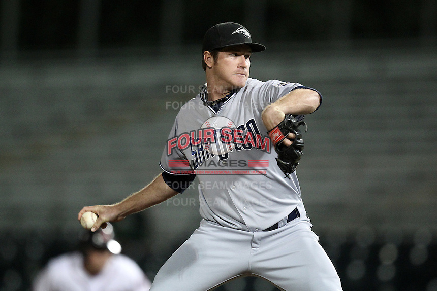 Peoria Javelinas pitcher Miles Mikolas #49 during an Arizona Fall League game against the Scottsdale Scorpions at Scottsdale Stadium on November 1, 2011 in Scottsdale, Arizona.  Scottsdale defeated Peoria 6-4.  (Mike Janes/Four Seam Images)