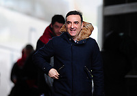 Swansea City manager Carlos Carvalhal arrives at the liberty stadium <br /> <br /> Photographer Ashley Crowden/CameraSport<br /> <br /> The Premier League - Swansea City v Burnley - Saturday 10th February 2018 - Liberty Stadium - Swansea<br /> <br /> World Copyright &copy; 2018 CameraSport. All rights reserved. 43 Linden Ave. Countesthorpe. Leicester. England. LE8 5PG - Tel: +44 (0) 116 277 4147 - admin@camerasport.com - www.camerasport.com