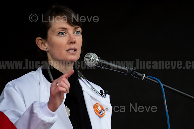 Aislinn Macklin-Doherty (Junior Doctor, Cancer Specialist Trainee).<br /> <br /> London, 04/03/2017. Today, hundreds of thousands activists (estimated 250,000 people for the organisers), doctors, nurses and members of the public marched from Tavistock Square (British Medical Association HQ) to Parliament Square. The demonstration, organised by Health Campaigns Together &amp; The People's Assembly, was called to protest against the National Health Service (NHS) crisis (and alleged privatization plan) which recently led the Red Cross to declare a humanitarian crisis in the British NHS and were forced to intervene. From the organisers Facebook event page: &lt;&lt;[&hellip;] We must fight to save the NHS from destruction. The threat is real. It is happening now. Hospitals, GPs, mental health, ambulance and community services are on their knees. Private companies are gaining an ever greater foothold within the NHS. Years of pay restraint has seen the value of NHS staff salaries reduce by 14% since 2010. The Government's Sustainability and Transformation Plans are a smokescreen for a massive programme of hospital and community service closures, and are its latest instrument for privatisation. The NHS is one of our greatest achievements. We cannot allow it to be undermined and ultimately destroyed. [&hellip;] &quot;the NHS will last as long as there are folk with the faith to fight for it.&quot; Nye Bevan - founder of the NHS [&hellip;]&gt;&gt;.<br /> <br /> For more information please click here: https://www.facebook.com/events/1771664639725061/