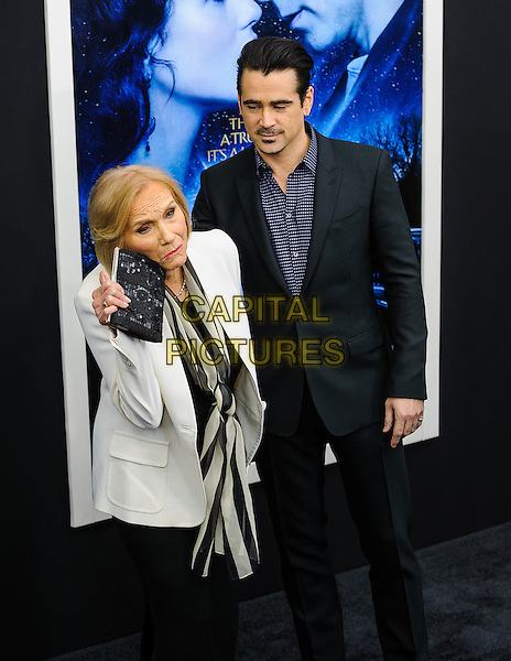 NEW YORK, NY - FEBRUARY 11: Eva Marie Saint, Colin Farrell  attends the 'Winter's Tale' world premiere at Ziegfeld Theater on February 11, 2014 in New York City.<br /> CAP/ADM/MSA<br /> &copy;Mario Santoro/AdMedia/Capital Pictures