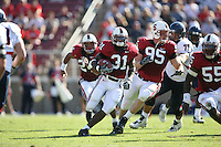 14 October 2006: Wopamo Osaisai makes a 72 yard interception return for a touchdown during Stanford's 20-7 loss to Arizona during Homecoming at Stanford Stadium in Stanford, CA.