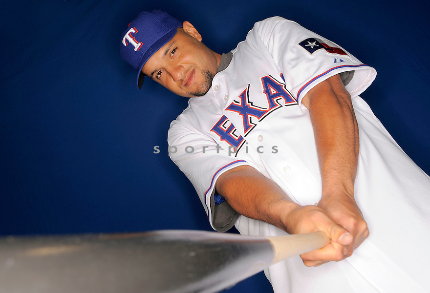 MAX RAMIREZ, of the Texas Rangers, during photo day of spring training and the Ranger's training camp in Surprise, Arizona on February 24, 2009.