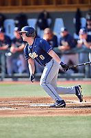 Pittsburgh Panthers designated hitter Caleb Parry (11) swings at a pitch during a game against the North Carolina Tar Heels at Boshamer Stadium on March 17, 2018 in Chapel Hill, North Carolina. The Tar Heels defeated the Panthers 4-0. (Tony Farlow/Four Seam Images)