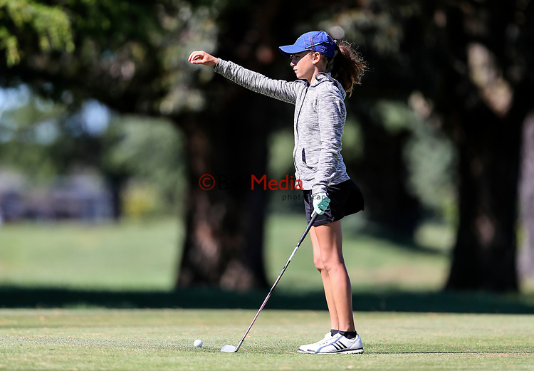 Silvia Brunotti during the New Zealand Amateur Golf Championship final against Rose Zheng at Russley Golf Course, Christchurch, New Zealand. Sunday 5 November 2017. Photo: Simon Watts/www.bwmedia.co.nz