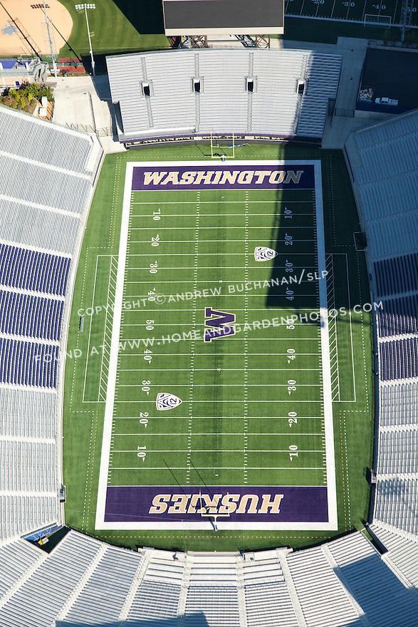 aerial photo of the University of Washington's Husky Stadium in Seattle