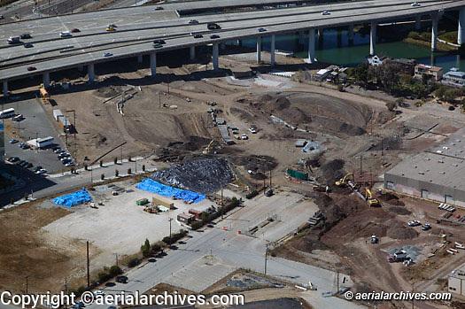 Aerial photograph construction Mission Bay San Francisco California