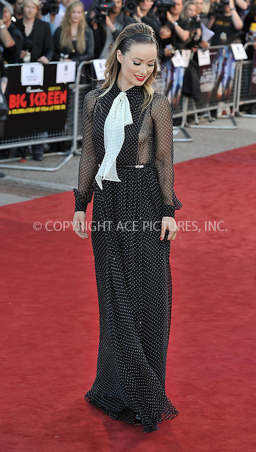 WWW.ACEPIXS.COM . . . . .  ..... . . . . US SALES ONLY . . . . .....August 11 2011, London....Actress Olivia Wilde arriving at the 'Cowboys and Aliens' UK film premiere at the 02 Arena on August 11, 2011 in London, England.....Please byline: FAMOUS-ACE PICTURES... . . . .  ....Ace Pictures, Inc:  ..Tel: (212) 243-8787..e-mail: info@acepixs.com..web: http://www.acepixs.com