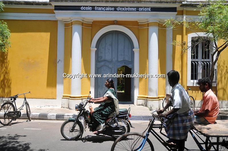 E'cole Francaise D'extreme - Orient  in Pondicherry.Arindam Mukherjee/Sipa