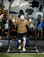 Rob Shaul teaches a workout class at the Mountain Tactical Institute in Jackson, Wyoming, Wednesday, December 6, 2017. Shaul, coming from a military background, teaches workout classes based on real life performance ability training.<br /> <br /> Students in the class include; Bruce Lynn, Ben Vincent, Connor McGinnis, Kristian Ophus, Emmett Shaul, Brent Sikora, and Ben Goldberg<br /> <br /> Photo by Matt Nager