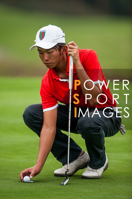 Yuki Shino of Japan in action at the 9th Faldo Series Asia Grand Final 2014 golf tournament on March 18, 2015 at Faldo course in Mid Valley clubhouse in Shenzhen, China. Photo by Xaume Olleros / Power Sport Images