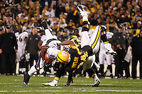 PITTSBURGH, PA - NOVEMBER 06:  Anquan Boldin #81 of the Baltimore Ravens is tackled by Ike Taylor #24 of the Pittsburgh Steelers after catching a pass during the game on November 6, 2011 at Heinz Field in Pittsburgh, Pennsylvania.  (Photo by Jared Wickerham/Getty Images)