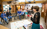 "Farina King talks about Navajo rug weaving Saturday, March 14, 2020, while presenting the monthly storytime at the Museum of Native American History in Bentonville. King is a Diné (Navajo) author an assistant professor of Native American history at Northeastern State University in Tahlequah, Okla. She read 'Wisdom Weaver' by Jann A. Johnson, a children's book about a Navajo girl who learns the traditional way of making a Navajo rug from her grandmother. ""Weaving is part of who we are as a people,"" said King, whose grandmother was also a weaver. <br />