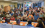 "Overview of the standing room only crowd at the ""An Evening of Real History"" event, at the A.J. Williams-Myers African Roots Center, in Kingston, NY, on Saturday, July 29, 2017. Photo by Jim Peppler. Copyright/Jim Peppler-2017."