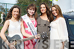 8274- 8279SINGERS: The O'Neill Sisters getting a helping hand from the Kerry Rose 2011 Sile Ni? Dheargaian, L-r: Fiona O'Neill, Kerry Rose 2011 Shil Ni? Dheargain, Naoimi and Evangeline O'Neill who entertained at the 10th Anniversary of Mercy Mounthawk Secondary School,Tralee on Sunday.............