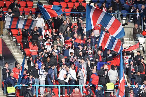 05.03.2016. Paris, France. French League 1 football. Paris St Germain versus Montpellier.  Supporters of PSG
