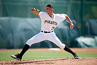 Pittsburgh Pirates pitcher Blake Weiman (31) delivers a pitch during an Instructional League intrasquad game on October 11, 2017 at Pirate City in Bradenton, Florida.  (Mike Janes/Four Seam Images)