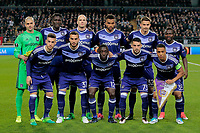 BRUSSELS , BELGIUM - APRIL 13 : team picture of RSCA pictured during  UEFA Europa League quarter final first leg match between Rsc Anderlecht and Manchester United in Brussels, Belgium 13/04/2017. <br /> Equipe<br /> Bruxelles 13-04-2016 <br /> Anderlecht - Manchester United Europa League <br /> Foto Panoramic / Insidefoto <br /> ITALY ONLY